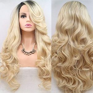 "🖤ANGE 24"" BLONDE OMBRÉ LACE-FRONT CURL WIG🖤 *NWT"